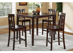 F2259 5 piece dining set package includes 4 chairs