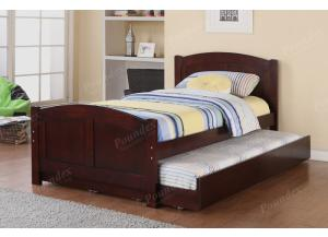 F9217 Twin Youth Bed with chest and nightstand, trundle and slats included (Bedding sold seperately),MEK IMPORTS
