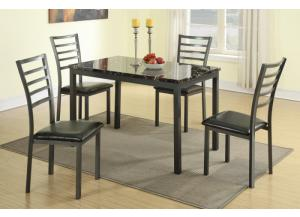 F2368 5 piece dining set package includes 4 chairs,MEK IMPORTS