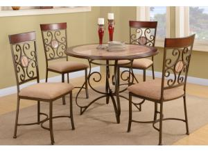 F2061 5 piece dining set package includes 4 chairs