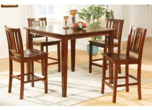 F2254 5 piece dining set package includes 4 chairs