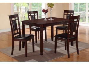 F2232 5 Piece Dining Set Package Includes 4 Chairs