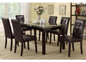 F2093 7 piece dining set package includes 6 chairs, 2 optional styles