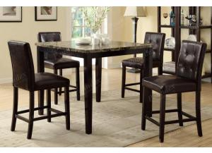 F2339 5 piece dining set package includes 4 chairs, 2 optional styles
