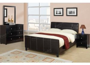 F9225 Queen Bed with dresser, mirror and nightstand (slats included)
