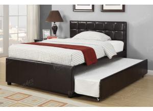 F9215 Twin Bed with trundle, slats included (Bedding sold seperately