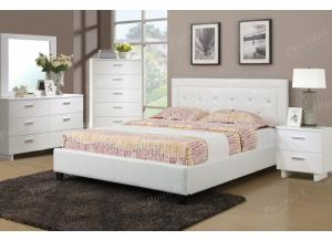 F9247 Queen Bed with dresser, mirror, nightstand and chest(slats included)