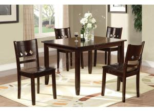 F2242 5 piece dining set package includes 4 chairs