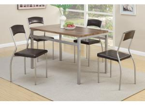 F2369 5 piece dining set package includes 4 chairs