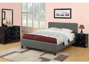 F9226 Queen Bed with dresser, mirror and nightstand (slats included)