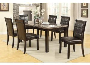 F2295 7 piece dining set package includes 6 chairs