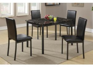 F2361 5 piece dining set package includes 4 chairs