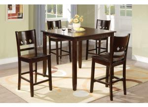 F2243 5 piece dining set package includes 4 chairs