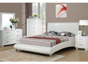 F9241 Full Bed with dresser, mirror, nightstand and chest (slats included)