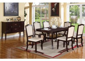 F2290 7 piece dining set package includes 6 chairs (3 styles) and optional server