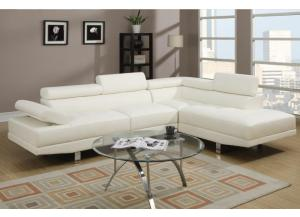 F7320 2 piece sectional sofa with tilting headrest