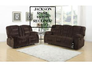 Sofa and Loveseat combination - Rocker/Recliner with optional chair - Jackson