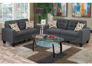 F6901 Grey Sofa and Loveseat combination