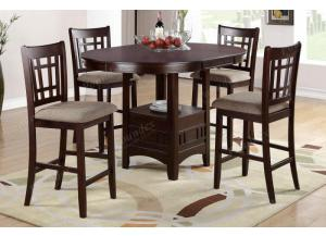F2345 5 piece dining set package includes 4 chairs