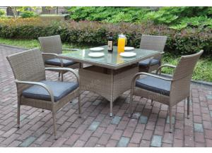 217 5 piece outdoor set including 4 chairs