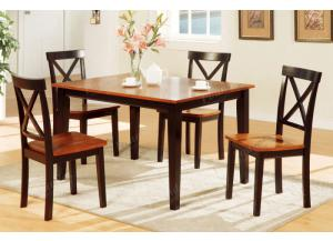 F2250 5 piece dining set package includes 4 chairs ,MEK IMPORTS