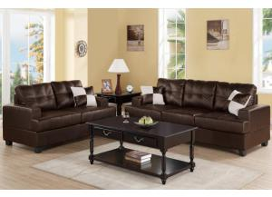 F7577 2 piece sofa set with accent pillows