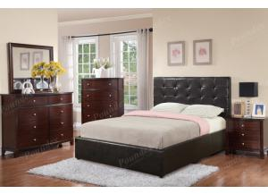 F9250 Full Bed with dresser, mirror, nightstand and chest(slats included)