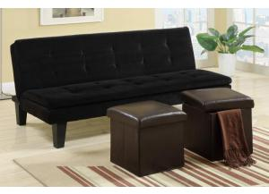 F7197 Adjustable sofa with 2 piece ottoman