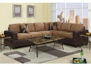 F7632 2 piece sectional sofa with reversable wedge