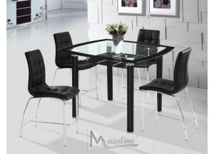 Sudoku 5PC SET: Counter Table And 4 Chairs