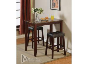 Topaz 3PC SET: Table And 2 Stools