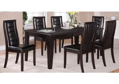Era 7PC SET: Table And 6 Side Chairs,American Furniture