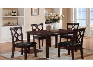 Copper 5PC SET: Table And 4 Chairs