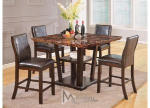 Lapidus 5PC SET: Counter Height Table & 4 Chairs