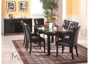 Obsidian 5PC SET: Table And 4 Chairs