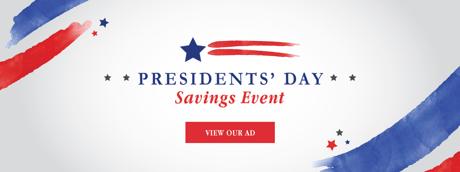 Presidents' Day Current Banner