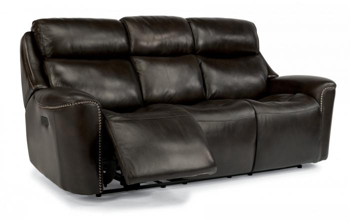 Top Grade Leather Power Reclining Sofa w/Power Adjustable Headrests,FlexSteel