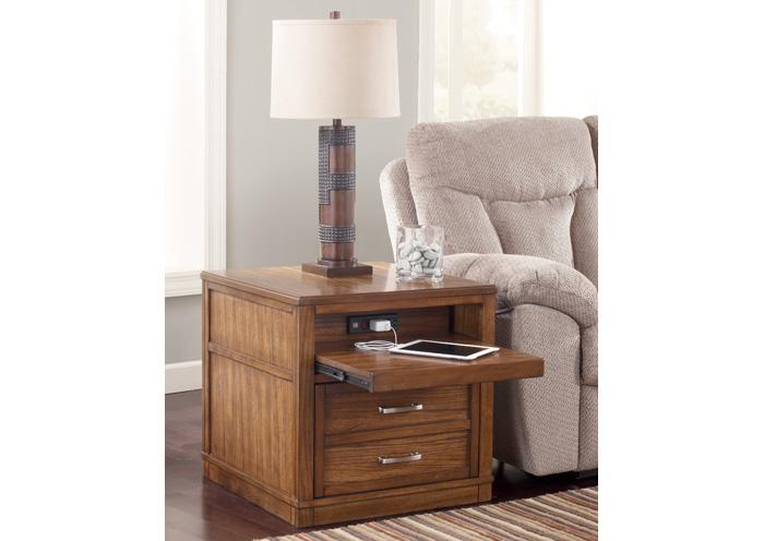 Wataskin Chairside End Table,Amite City Showcase