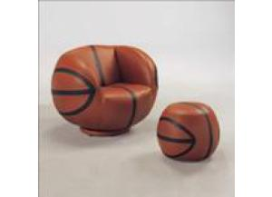 BASKETBALL SWIVEL CHAIR & OTTOMAN