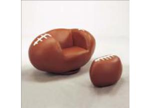 FOOTBALL SWIVEL CHAIR & OTTOMAN