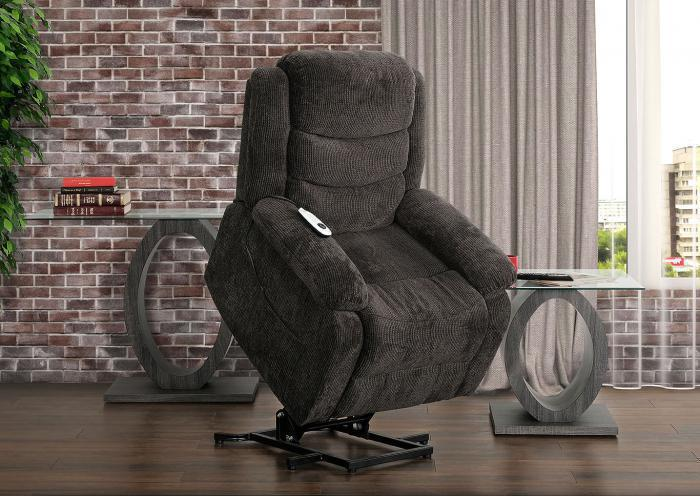 Charcoal Ranier Power Lift Recliner,Roses eCircular Special