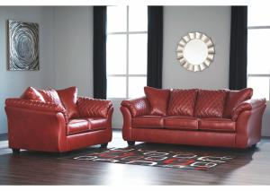Betrillo Salsa Sofa and Loveseat