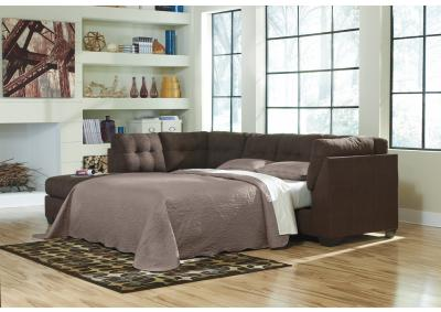 Image for Maier Walnut LAF Sofa Chaise Sleeper