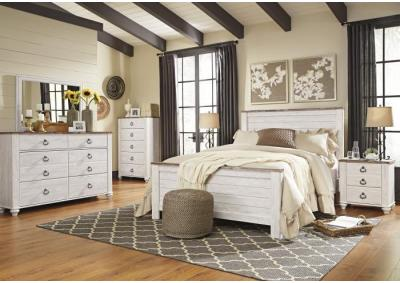 Willowton Queen Panel Bed w/Double Dresser & Nightstand