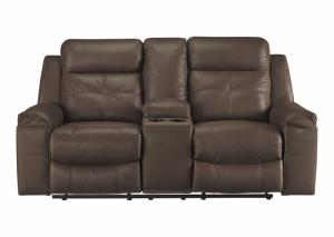 Superior Jesolo Brown Double Reclining Loveseat