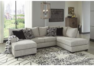 Image for Megginson Storm Left-Arm Facing Sofa Chaise & 4 Pillows