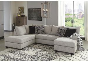 Image for Megginson Storm Right-Arm Facing Sofa Chaise & 4 Pillows