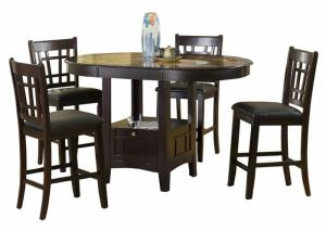 Charleston Capuccino 5 Piece Pub Dining Set