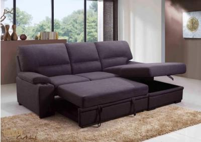 Primo International Convertible Chaise Sofabed with Storage