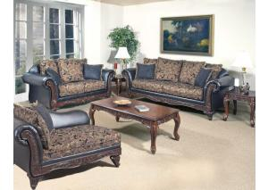 Silas Ebony - Sofa and Loveseat
